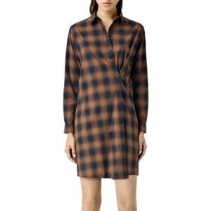 Allsaints braxton plaid dress size 0